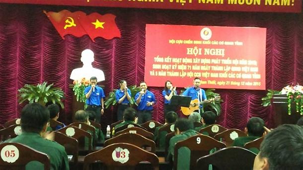 Hình Sinh hoạt kỷ niệm 71 năm Ngày thành lập Quân đội nhân dân Việt Nam, 26 năm Ngày hội Quốc phòng toàn dân và 5 năm ngày thành lập Hội Cựu Chiến binh khối các cơ quan tỉnh