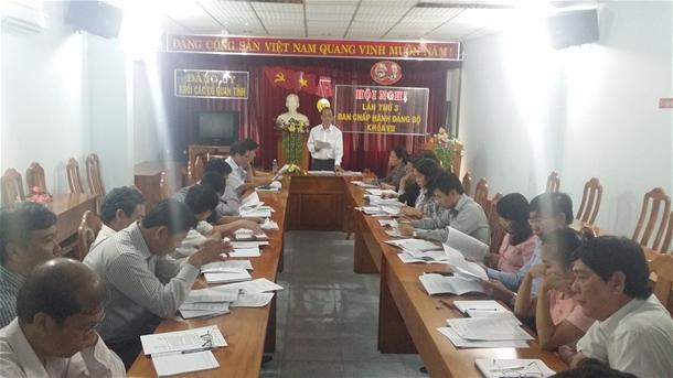Hình Đảng ủy khối các cơ quan tỉnh Bình Thuận tổ chức Hội nghị Ban Chấp hành Đảng bộ Khối lần thứ 3 khóa VII, nhiệm kỳ 2015 - 2020