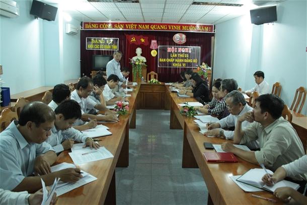 Hình Hội nghị Ban Chấp hành Đảng bộ khối các cơ quan tỉnh lần thứ 23