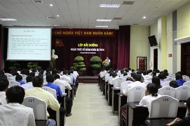 Hình Đảng ủy khối các cơ quan tỉnh mở lớp bồi dưỡng nhận thức về Đảng khóa III/2014.