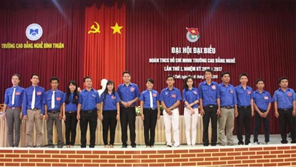 Đoàn trường CĐ nghề: Đại hội đại biểu Đoàn TNCS Hồ Chí Minh trường Cao đẳng nghề Bình Thuận lần thứ I, nhiệm kỳ 2015 – 2017